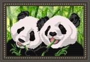 Рисунок на ткани для вышивки бисером Панды