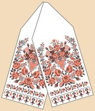 Рисунок на габардине для вышивки бисером Свадебный рушник Марiчка (Маричка) РБ-1014