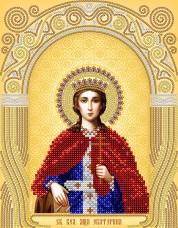 Рисунок на атласе для вышивки бисером Св. Великомученица Екатерина А-строчка АС4-028
