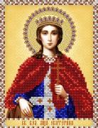 Рисунок на атласе для вышивки бисером Св. Великомученица Екатерина