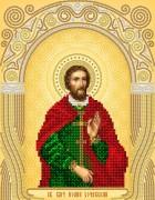 Рисунок на атласе для вышивки бисером Св. Вмч. Иоанн Сочавский