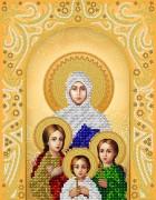 Рисунок на атласе для вышивки бисером Св. Вмч. Вера, Надежда, Любовь и матерь их Софья