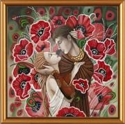 Рисунок на ткани для вышивки бисером Влюблённая пара