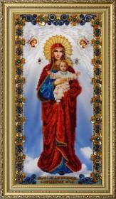 Набор для вышивки бисером Икона Божьей Матери Благодатное Небо, , 1 320.00грн., Р-177, Картины бисером, Большие иконы