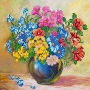 Рисунок на ткани для вышивки бисером Луговые цветы