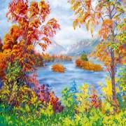Рисунок на ткани для вышивки бисером Осенняя сказка