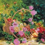 Рисунок на ткани для вышивки бисером Садовые розы