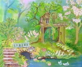Схема вышивки бисером на атласе Дом возле озера Княгиня Ольга СКВ-105 - 68.00грн.