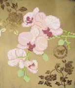 Рисунок на ткани для вышивки бисером Розовые орхидеи