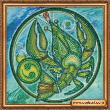 Набор для вышивки бисером Знак Зодиака. Рак Абрис Арт АВ-332-04