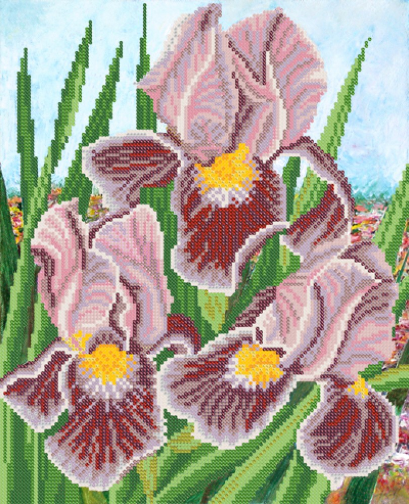 Рисунок на ткани бисером 13