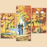 Рисунок на ткани для вышивки бисером (3 части) Осенняя палитра