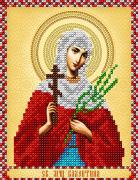 Схема для вышивки бисером на атласе  Св. мученица Валентина