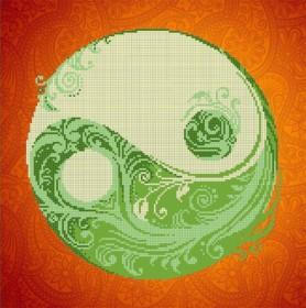 Рисунок на ткани для вышивки бисером Инь - Янь Картины бисером S-126 - 112.00грн.