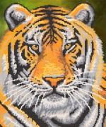 Рисунок на ткани для вышивки бисером Тигр