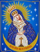 Рисунок на ткани для вышивки бисером Остробрамская икона Божьей Матери