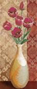 Рисунок на габардине для вышивки бисером Цветы в вазе 1