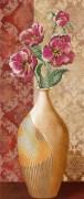 Рисунок на габардине для вышивки бисером Цветы в вазе 2