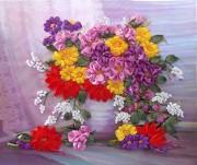 Набор для вышивки лентами Осенние цветы