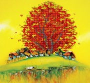 Рисунок на ткани  для вышивки бисером Восточная осень