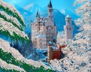 Рисунок на ткани для вышивки бисером Замок рыцарских легенд