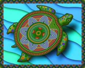 Рисунок на ткани для вышивки бисером Императорская черепаха А-строчка АКЗ-100 - 85.00грн.