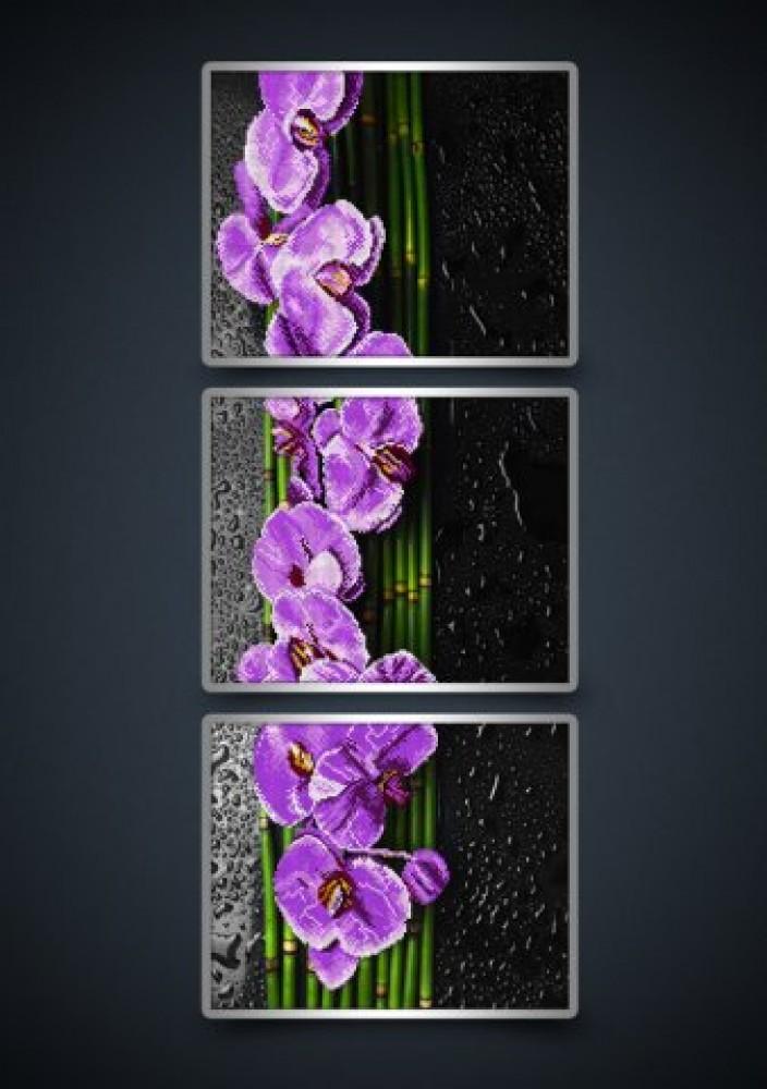 Триптих орхидея вышивка бисером