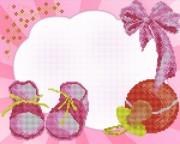 Рисунок на ткани для вышивки бисером Наша малышка