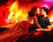 Рисунок на ткани для вышивки бисером Пламя страсти