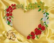 Рисунок на ткани для вышивки бисером С юбилеем свадьбы!