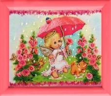 Рисунок на атласе для вышивки бисером Ангелочек Баттерфляй (Butterfly) 950Б