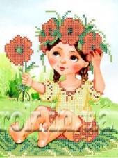 Рисунок на ткани для вышивки бисером Девочка в веночке Княгиня Ольга СД-148
