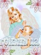 Рисунок на ткани для вышивки бисером Ангел и дитя