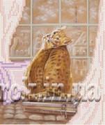 Рисунок на ткани  для вышивки бисером Париж за окном