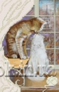 Рисунок на ткани для вышивки бисером Французский поцелуй