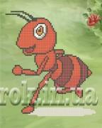 Рисунок на ткани для вышивки бисером Работящий муравей