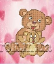 Рисунок на ткани для вышивки бисером Добрые медвежата Княгиня Ольга СД-128