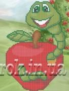 Рисунок на ткани для вышивки бисером Вкусное яблочко