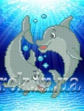 Рисунок на ткани для вышивки бисером Дельфинчики Княгиня Ольга СД-125