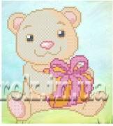 Рисунок на ткани для вышивки бисером Подарок для тебя