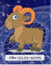 Рисунок на ткани для вышивки бисером Знак зодиака. Овен Княгиня Ольга СД-101 - 24.00грн.