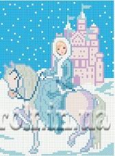Рисунок на ткани для вышивки бисером Снежная принцесса Княгиня Ольга СД-080