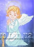 Рисунок на ткани для вышивки бисером Молитва ангела