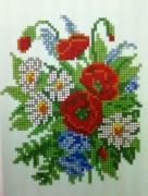 Рисунок на ткани для вышивки бисером Летний букетик
