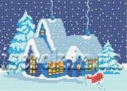 Рисунок на ткани для вышивки бисером Санта Клаус идёт!