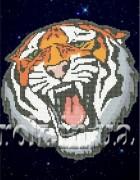 Рисунок на ткани для вышивки бисером Не злите тигра!