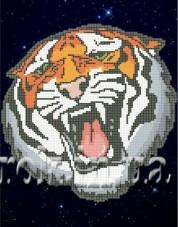 Рисунок на ткани для вышивки бисером Не злите тигра! Княгиня Ольга СКМ-76