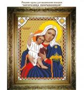 Рисунок на ткани для вышивки бисером Богородица Покрывающая