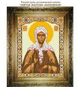 Рисунок на ткани для вышивки бисером Матрона Московская Святая Блаженная