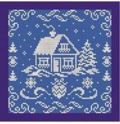 Рисунок на ткани для вышивки бисером Новорічна листівка